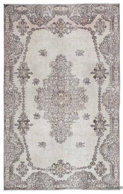 Boyalı El Dokuma Vintage Halı - 165 cm x 259 cm
