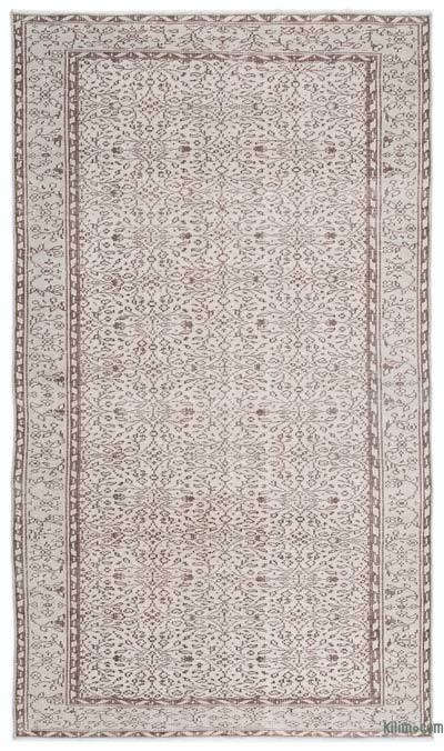 Boyalı El Dokuma Vintage Halı - 160 cm x 272 cm