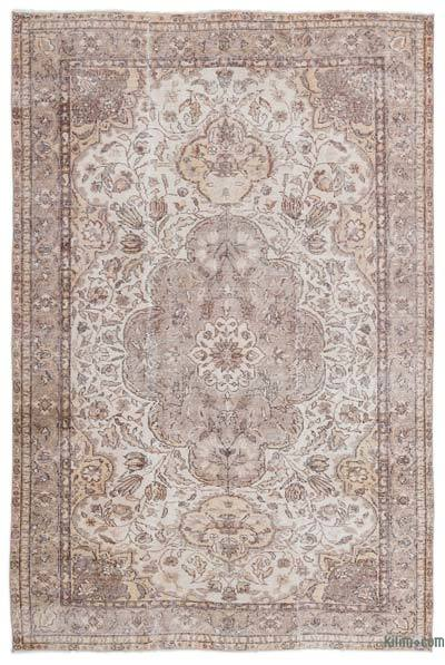 """Over-dyed Turkish Vintage Rug - 6'2"""" x 9'2"""" (74 in. x 110 in.)"""