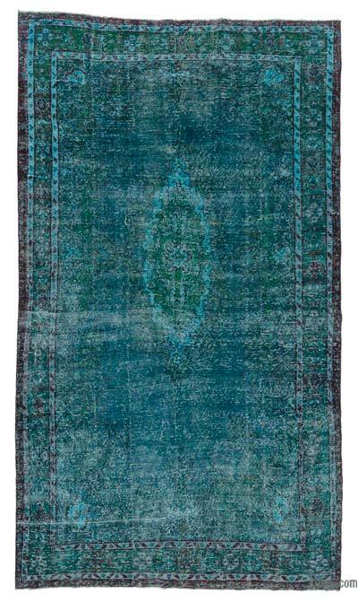 """Over-dyed Turkish Vintage Rug - 6' 6"""" x 11'  (78 in. x 132 in.)"""