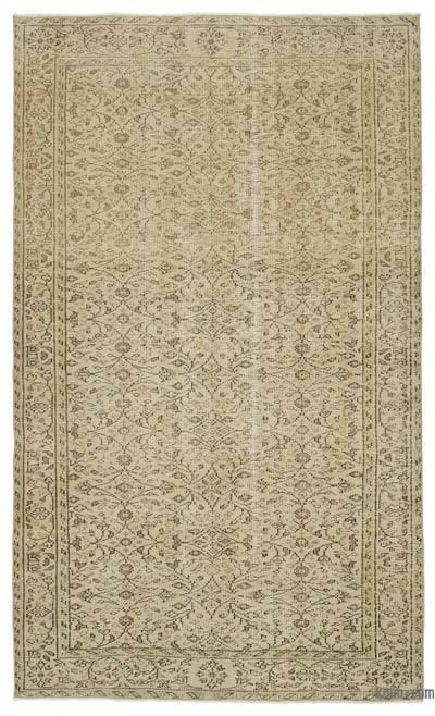 Boyalı El Dokuma Vintage Halı - 155 cm x 258 cm