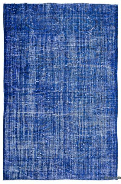 """Over-dyed Turkish Vintage Rug - 6'2"""" x 9'5"""" (74 in. x 113 in.)"""