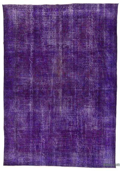 "Over-dyed Turkish Vintage Rug - 7' 2"" x 10' 2"" (86 in. x 122 in.)"