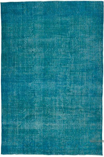 """Over-dyed Turkish Vintage Rug - 6' 10"""" x 10' 3"""" (82 in. x 123 in.)"""