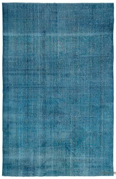 """Over-dyed Turkish Vintage Rug - 6' 11"""" x 10' 6"""" (83 in. x 126 in.)"""