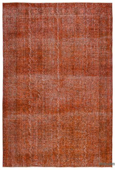 """Over-dyed Turkish Vintage Rug - 6' 8"""" x 9' 11"""" (80 in. x 119 in.)"""