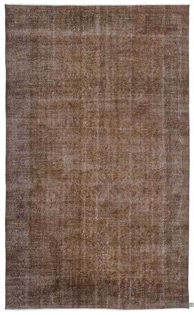 """Over-dyed Turkish Vintage Rug - 5' 6"""" x 9' 3"""" (66 in. x 111 in.)"""