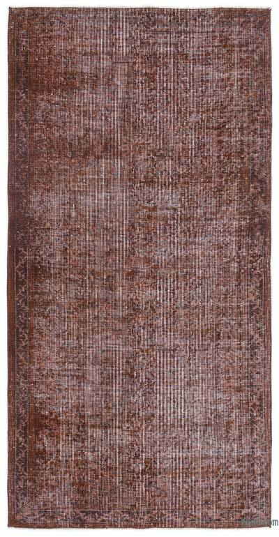 """Over-dyed Turkish Vintage Rug - 3'3"""" x 6'5"""" (39 in. x 77 in.)"""