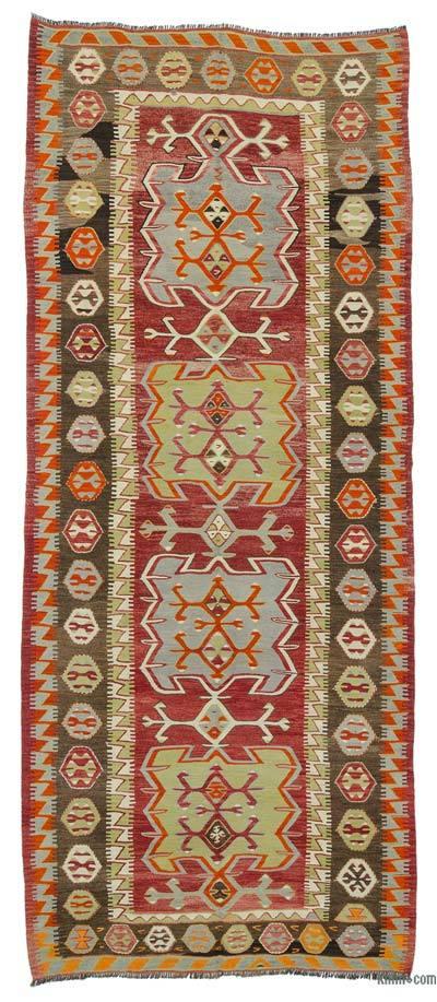 """Vintage Konya Kilim Rug - 4' 11"""" x 11' 6"""" (59 in. x 138 in.)"""