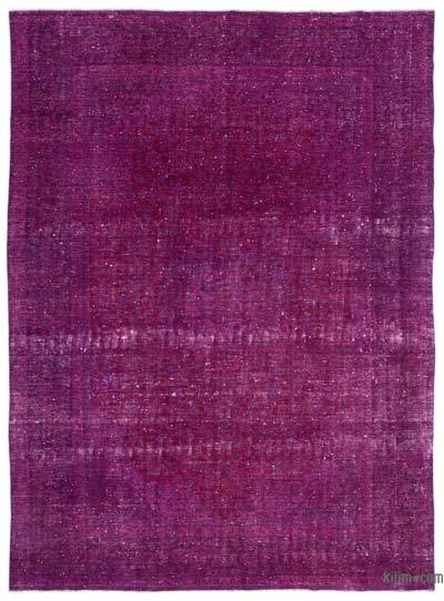 """Over-dyed Vintage Hand-knotted Oriental Rug - 9' 4"""" x 12' 10"""" (112 in. x 154 in.)"""