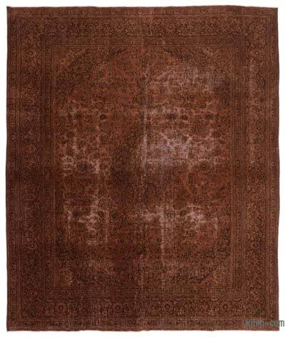 "Over-dyed Vintage Hand-knotted Oriental Rug - 9' 8"" x 11' 6"" (116 in. x 138 in.)"