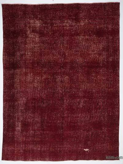 """Red Over-dyed Vintage Hand-knotted Oriental Rug - 9' 4"""" x 12' 8"""" (112 in. x 152 in.)"""