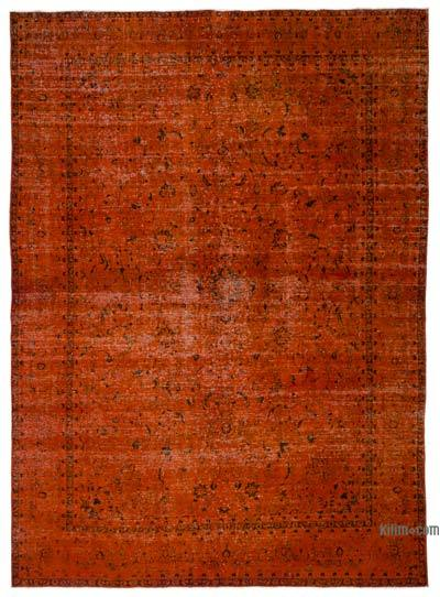 """Over-dyed Vintage Hand-knotted Oriental Rug - 9' 1"""" x 12' 10"""" (109 in. x 154 in.)"""