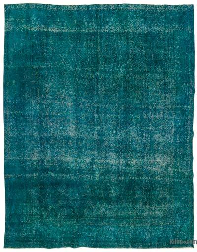 """Over-dyed Vintage Hand-knotted Oriental Rug - 9'7"""" x 12' (115 in. x 144 in.)"""