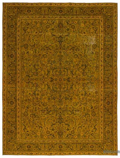 "Over-dyed Vintage Hand-knotted Oriental Rug - 9' 5"" x 12' 10"" (113 in. x 154 in.)"
