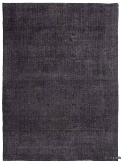 "Grey Over-dyed Vintage Hand-knotted Oriental Rug - 9' 11"" x 13' 7"" (119 in. x 163 in.)"