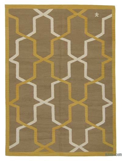 "New Handwoven Turkish Kilim Rug - 5'7"" x 7'9"" (67 in. x 93 in.)"