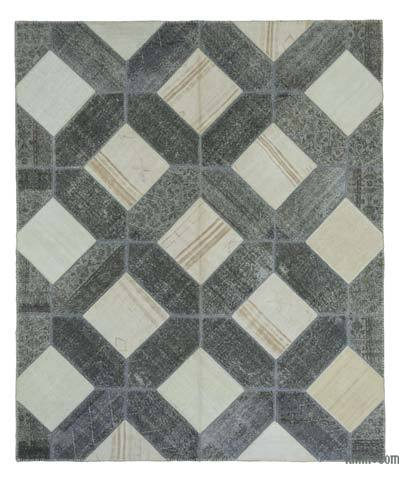 "Patchwork Hand-Knotted Turkish Rug - 8' 3"" x 9' 11"" (99 in. x 119 in.)"