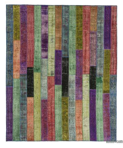 "Over-dyed Turkish Patchwork Rug - 8'1"" x 10' (97 in. x 120 in.)"