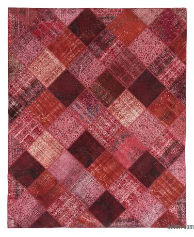 "Over-dyed Turkish Patchwork Rug - 8'2"" x 10'2"" (98 in. x 122 in.)"