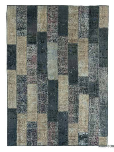 "Over-dyed Turkish Patchwork Rug - 6' x 8'4"" (72 in. x 100 in.)"