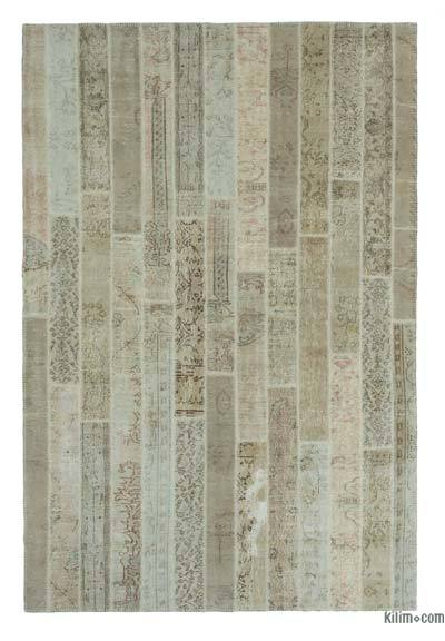 "Over-dyed Turkish Patchwork Rug - 6' 8"" x 10'  (80 in. x 120 in.)"