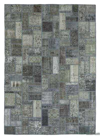 """Over-dyed Turkish Patchwork Rug - 6'9"""" x 9'10"""" (81 in. x 118 in.)"""