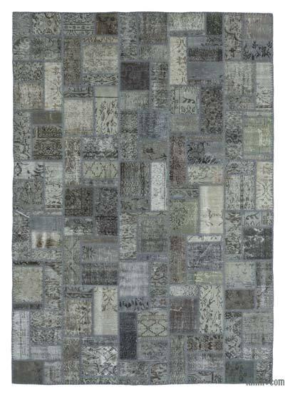 Alfombra De Retazos Turca Sobre-teñida - 207 cm x 299 cm