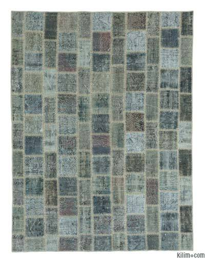 "Over-dyed Turkish Patchwork Rug - 5'9"" x 7'7"" (69 in. x 91 in.)"