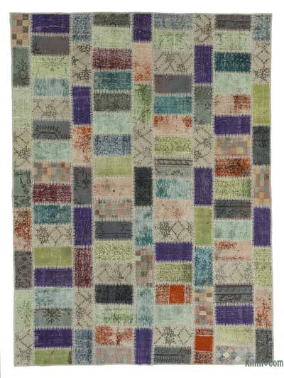 "Over-dyed Turkish Patchwork Rug - 5' 11"" x 7' 11"" (71 in. x 95 in.)"