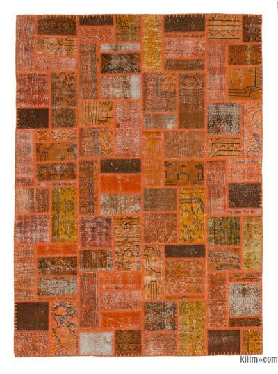 "Over-dyed Turkish Patchwork Rug - 5'7"" x 7'10"" (67 in. x 94 in.)"