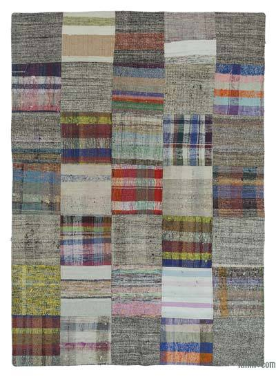 "Turkish Chaput Patchwork Rug - 4'10"" x 7'10"" (58 in. x 94 in.)"