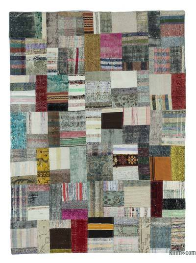 "Turkish Chaput Patchwork Rug - 5'7"" x 7'10"" (67 in. x 94 in.)"