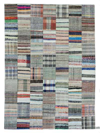 "Turkish Chaput Patchwork Rug - 6' 11"" x 9' 9"" (83 in. x 117 in.)"