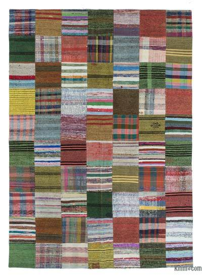 "Turkish Chaput Patchwork Rug - 6' 10"" x 9' 11"" (82 in. x 119 in.)"