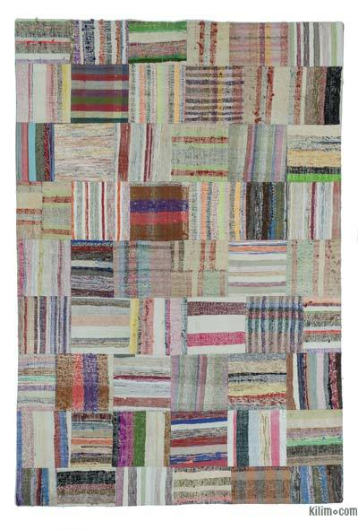 "Turkish Chaput Patchwork Rug - 6'8"" x 10' (80 in. x 120 in.)"