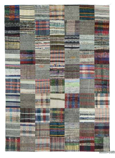 "Turkish Chaput Patchwork Rug - 6' 11"" x 9' 10"" (83 in. x 118 in.)"