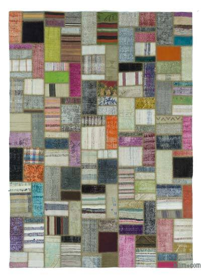 "Turkish Chaput Patchwork Rug - 6' 11"" x 9' 7"" (83 in. x 115 in.)"