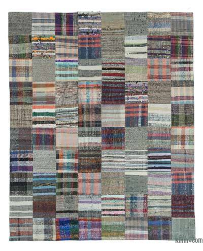 "Turkish Chaput Patchwork Rug - 7'10"" x 9'10"" (94 in. x 118 in.)"