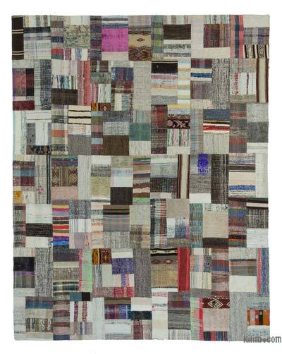"Turkish Chaput Patchwork Rug - 7' 11"" x 10'  (95 in. x 120 in.)"