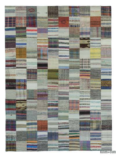 "Turkish Chaput Patchwork Rug - 8'2"" x 11'4"" (98 in. x 136 in.)"