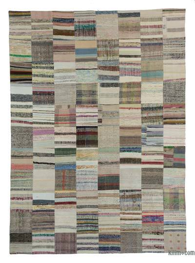 "Turkish Chaput Patchwork Rug - 8'2"" x 11'6"" (98 in. x 138 in.)"