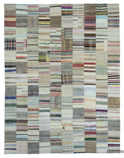 "Turkish Chaput Patchwork Rug - 9'11"" x 13'2"" (119 in. x 158 in.)"