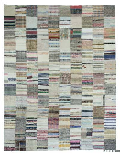 "Turkish Chaput Patchwork Rug - 9'11"" x 13'1"" (119 in. x 157 in.)"