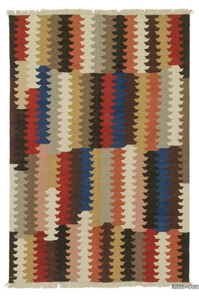 "New Handwoven Turkish Kilim Rug - 5' 10"" x 8' 11"" (70 in. x 107 in.)"