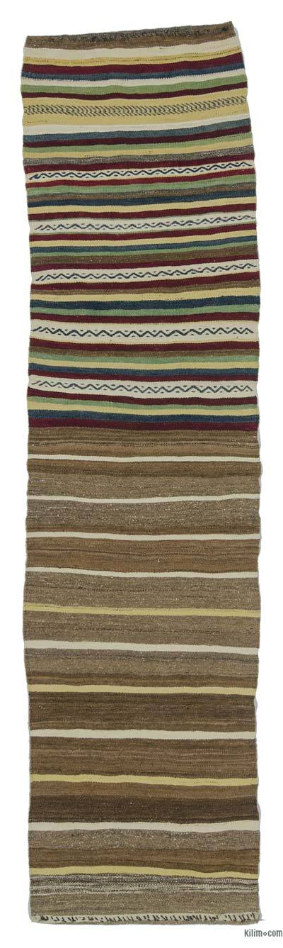 "Vintage Turkish Kilim Runner - 2' 3"" x 8' 6"" (27 in. x 102 in.)"