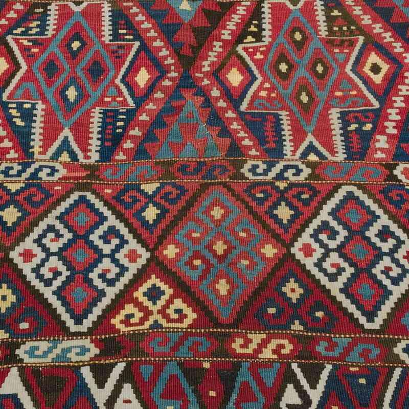 Kırmızı Malatya Kilimi Antika - 175 cm x 320 cm - K0020674