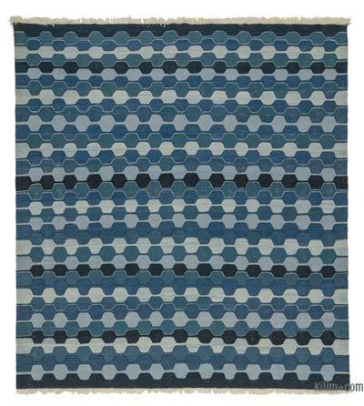 "New Handwoven Turkish Kilim Rug - 7' 6"" x 8' 1"" (90 in. x 97 in.)"