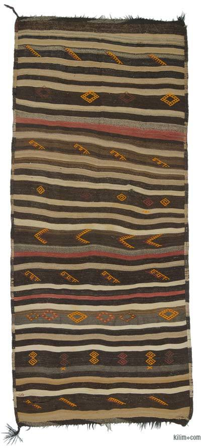"Vintage Turkish Kilim Runner - 5'2"" x 11'9"" (62 in. x 141 in.)"