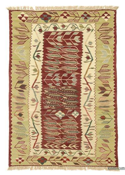 "New Handwoven Turkish Kilim Rug - 3'11"" x 5'7"" (47 in. x 67 in.)"